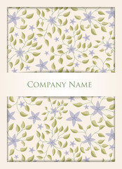 Floral business crad