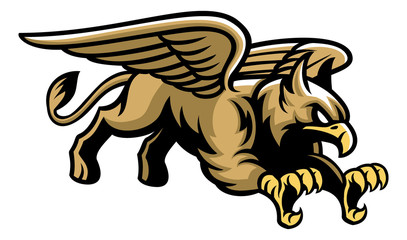 flying griffin mascot