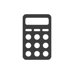 Calculator icon. Calculator Vector isolated on white background. Flat vector illustration in black. EPS 10