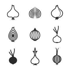 Onion vector icons.