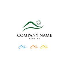 Farm Nature Mountain Logo Icon Vector