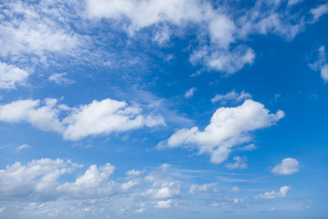 Blue sky with clouds background,  Beautiful clouds in the sky