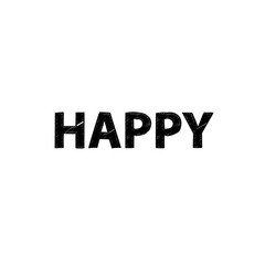 Poster Happy. Vector illustration.