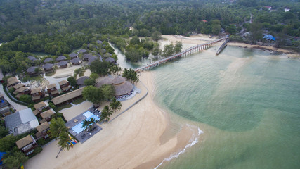 aerial view of payam island sea beach in ranong province andaman