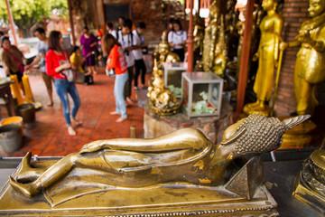 Ayutthaya,Thailand, - September, 07, 2016 : Behind the reclining