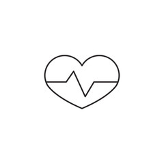 Heart icon outline vector illustration