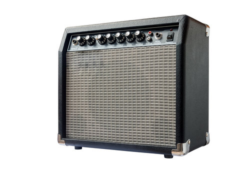 guitar amplifier isolated on white background
