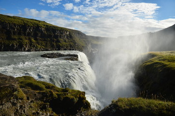 Waterfall in the Golden circle of Iceland