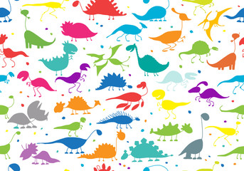 Funny dinosaurs, seamless pattern for your design