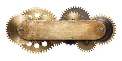 Wall Mural - Steampunk clockwork mechanism