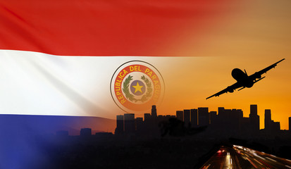 Paraguay fabric Flag Travel and Transport Concept