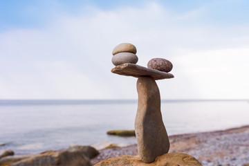 Stones in balance on coast