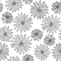 Linear flowers pattern