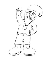Merry Gnome, vector image.