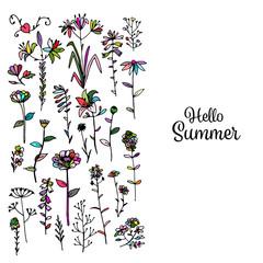 Floral background, sketch for your design
