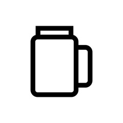 Jar glass line icon.