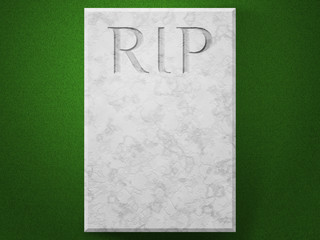 RIP on Stone Tomb Funeral Image