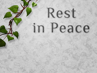 Rest in Peace Funeral Image Copyspace