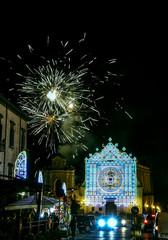 Festa patronale di Maria santissima Regina Incoronata dell'Olmo a Cava de' Tirreni con fuochi d'artificio e faville 6