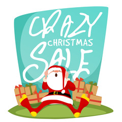 Crazy Christmas Sale Poster, Banner or Flyer.