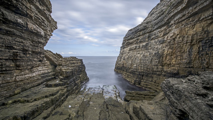rock formations on the sea