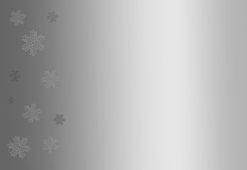 Silver Christmas background with chiseled snowflakes