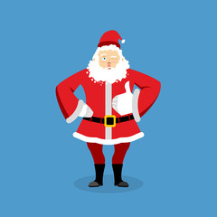Santa Claus thumbs up well and winks. Sign all right. Merry Chri
