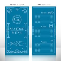 Sea Food Menu Design Template