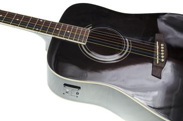 black guitar deck , tuner installed in it