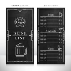 Drink List Menu Design Template