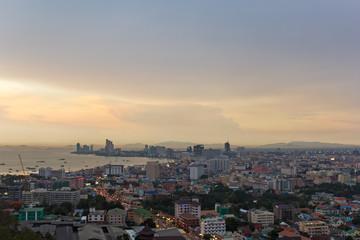 Pattaya sunset city view
