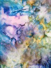 abstract colored silk nodular batik