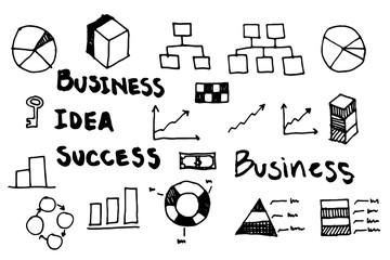 infographics elements sketching vector illustration