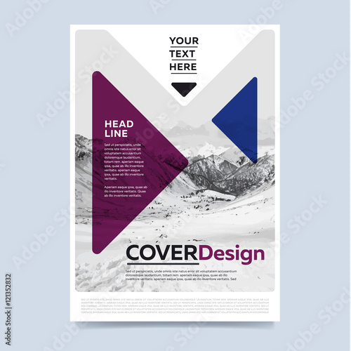 brochure layout design vector illustration cover design for annual