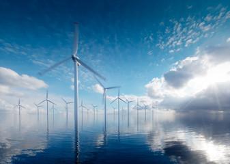 Offshore wind power plants