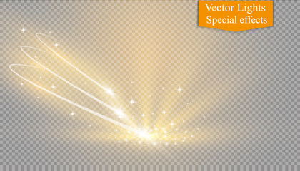Abstract vector magic vortex glow star light effect with neon.Comet