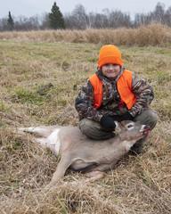 Wall Mural - Young Deer hunter