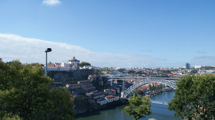 Panoramic view and beauty of Porto city, Portugal