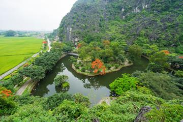 Landcape of Trang An Tam Coc at Ninh Binh, Viet nam