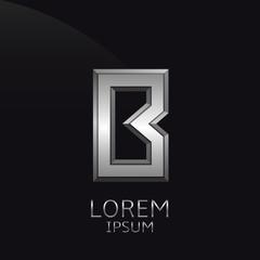 Silver B Letter emblem