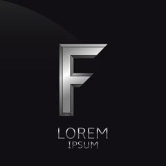 Silver F Letter emblem