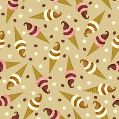 Ice cream seamless pattern