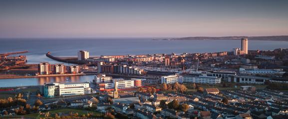 Swansea city South Wales Fototapete