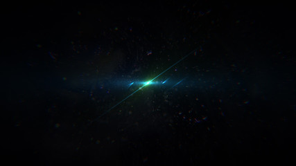 Beautiful light flares. Glowing streaks on dark background. Police light flares