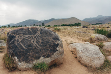Petroglyphs on stones