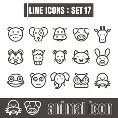 icon animal line black Modern Style vector on white background