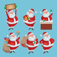 Santa cartoon icon. Merry Christmas season and decoration theme. Colorful design. Vector illustration