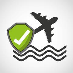 travel insurance concept icon vector illustration design