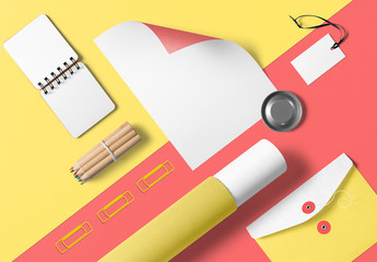 Colorful Stationery Mockup 1