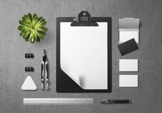 Black and White Stationery Mockup 1